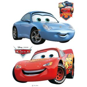 Stickers géant Disney Cars Flash McQueen et Sally