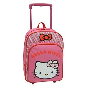 Sac à dos roulettes Hello Kitty (38 cm)