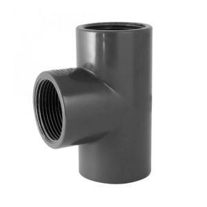 Codital Té 90° PVC pression à visser FFF 1 de - Catégorie Raccord PVC pression