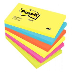 Post-It Tutti Frutti 76x127mm assorti - Lot de 6