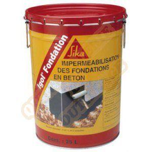 Sika Enduit d'imperméabilisation murs de fondation bitumeux noir 25 litres(537)
