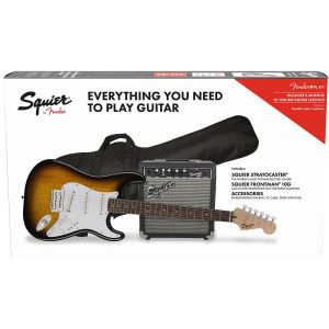 Squier Stratocaster Pack Brown Sunburst Frontman 10G