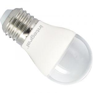 Integral LED ILP45E27O6.5D27KBEWA Ampoule LED E27 Mini Globe 6,5 W 2700 K 470 lm Dimmable Plastique/Aluminium/Nickel Brossé/Verre Blanc Chaud 8,9 x 4,5 cm