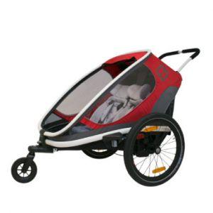 Hamax Remorque vélo Out back - Rouge/Gris Remorques pour enfant