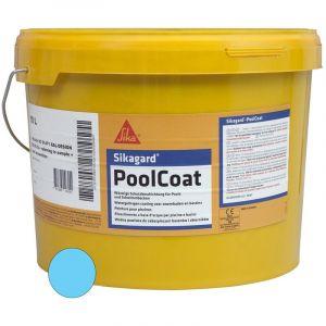 Sika Revêtement de piscine gard Poolcoat - Bleu - 10L