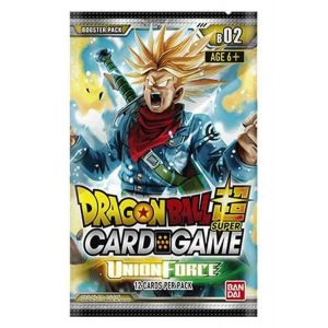 Bandai BCLDBBO7351 Dragon Ball Super CG Booster Pack B02 Union Force Multicolore