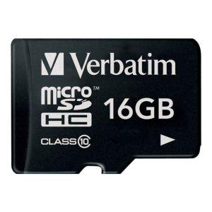 Verbatim 44082 - Carte mémoire microSDHC 16 Go Class 10 avec adaptateur SD