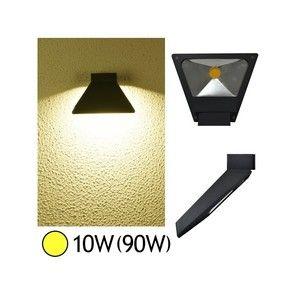 Vision-El Applique murale LED COB 10W (90W) IP54 blanc chaud forme inclinée