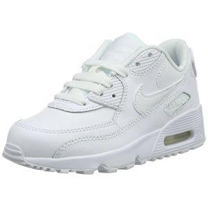 Nike Air Max 90 LTR (PS), Chaussures de Running Entrainement Garçon, Blanc (White/White 100), 28.5 EU