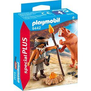 Playmobil 9442 - Homme des cavernes avec tigre à dents de sabre