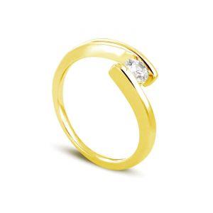 Rêve de diamants 3612030093555 - Bague en or jaune sertie d'un diamant