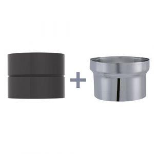 Isotip Joncoux Adaptateur pour raccordement D 120 noir mat cm