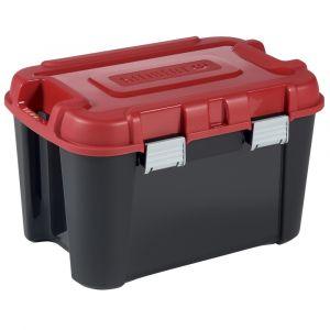 Allibert 229195 Totem Malle de Rangement Noir/Rouge Plastique 59,6 x 39,5 x 37 cm 60 L