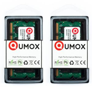 Qumox Barrettes mémoire 2 x 2 Go DDR2 800 MHz SODIMM 200 broches