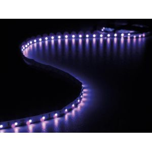 Perel Ensemble De Bande A Led Flexible Et Alimentation - Ultraviolet - 300 Led - 5 M - 12Vcc - Sans Revêtement