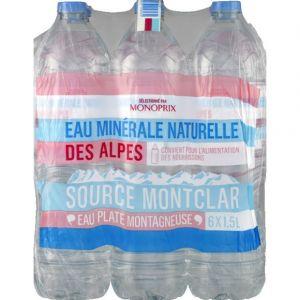 Monoprix Eau minérale naturelle des Alpes, source Montclar