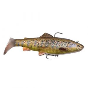 Savage Gear 4D Trout Rattle Shad Moderate Sink - 17cm - 80G - Dark Brown Trout - 57410