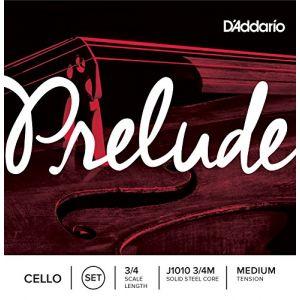 D'Addario Bowed Jeu de cordes pour violoncelle Prelude, manche 3/4, tension Medium