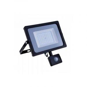 V-TAC 30W avec détecteur de Mouvement Projecteur LED de sécurité extérieur étanche avec Samsung LED Noir Corps Gris Verre IP65 3000K Blanc Chaud 2550 Lumens