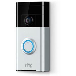 Ring Video Doorbell 2 - Caméra de sonnette sans fil nickel satin