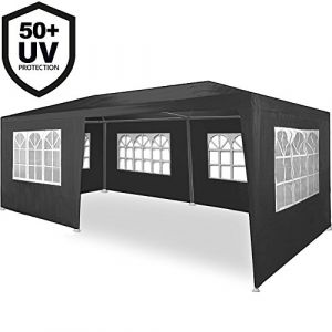 Deuba Tonnelle Rimini gris Tente de réception 3x6m Chapiteau Tente de jardin Pavillon