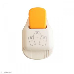 Vaessen Creative Perforatrice Tag Punch 3 en 1 - Etiquettes standard