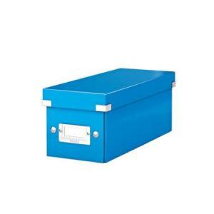 Leitz 6041-00-36 - Boîte de rangement Click & Store, format CD, en PP, coloris bleu métallique