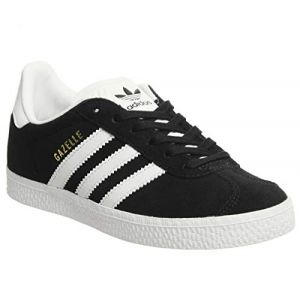 Adidas Gazelle C Baskets Basses Mixte Enfant, Noir (Core Black/FTWR White/Gold Metallic) 28 EU