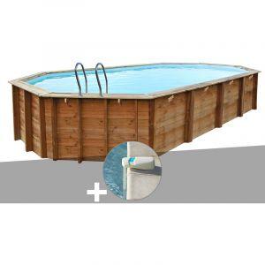 Sunbay Kit piscine bois Sevilla 8,72 x 4,72 x 1,46 m + Alarme