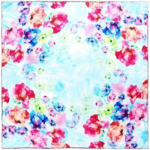 Image de Allée du foulard Carré de soie Premium Olesia Ciel