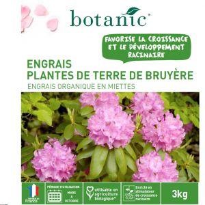 Botanic Engrais plantes de terre de bruyère 3kg