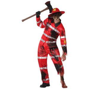 Atosa Déguisement sapeur pompier zombie homme (taille M/L)