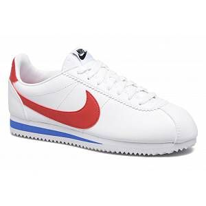 Nike Classic Cortez Leather, Sneakers Basses Femme, Blanc (White/Varsity Red-Varsity Royal 103), 42 EU