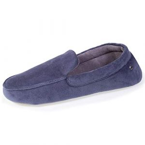 Isotoner Chaussons Mocassins Homme Broderie