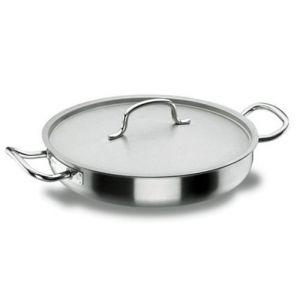 Lacor Chef Classic - Poêle à paëlla induction avec couvercle (40 cm)