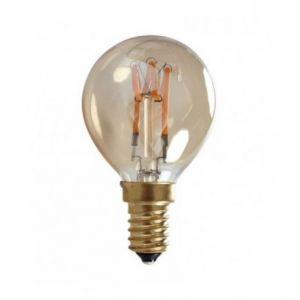 Ampoule LED rétro Edison ronde (D.4,5cm) filament twist 3,4W (E14)