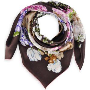 Allée du foulard Carré de soie Premium Arabesque florale