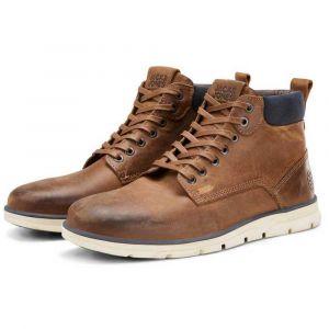 Jack & Jones Bottes et bottines Fwtubar Leather Sts - Brandy Brown - EU 46