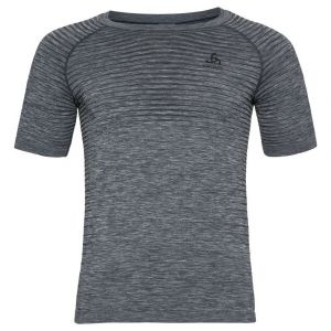 Odlo Performance Light Crew Neck SS Shirt Men, grey melange L Maillots de corps
