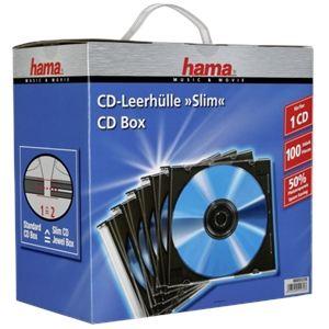 Hama 51270 - 100 boîtiers Slimcase pour CD
