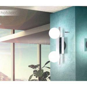 Globo Plafonnier CARDIFF Chrome, Acier inoxydable, Blanc, 2 lumières - Moderne/Design - Intérieur/Extérieur - CARDIFF - Délai de livraison moyen: 2 à 3 semaines. Port gratuit France métropolitaine et Belgique dès 100 €.