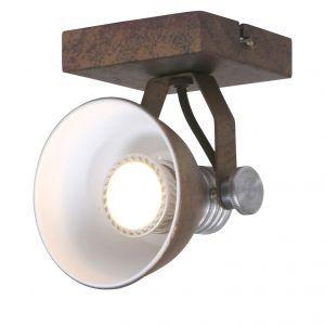 Steinhauer Applique et plafonnier LED en métal brun rouillé BROOKLYN