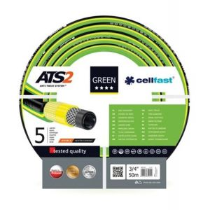 "Perel CELLFAST - TUYAU D'ARROSAGE - GREEN ATS2™ - 3/4"" - 50 m"