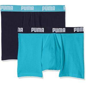 Puma Basic Boxer 2P, Homme, Bleu (Aqua/Blue 796), Large (Taille Fabricant:030) (Lot de 2)