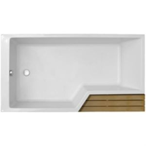 Jacob Delafon E6D002R00 - Baignoire bain-douche Neo à encastrer version droite (170 x 90/70 cm)