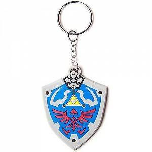 Legend of Zelda Porte-clés caoutchouc Hyrulian Crest 7 cm