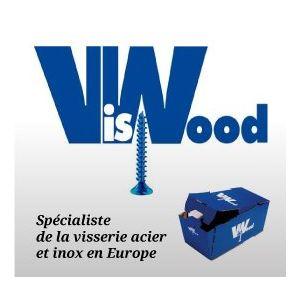 VisWood 1003020 - Vis à bois et aggloméré tête fraisée pozidrive en acier zingué bicromaté Diam 3 mm Longueur 20 mm
