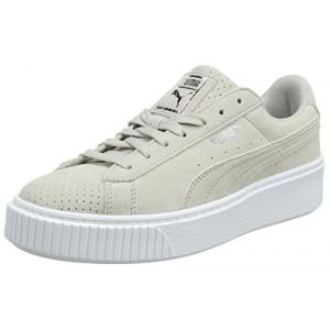 Puma Suede Platform Perf, Sneakers Basses Femme, Gris (Gray Violet-Silver), 37 EU