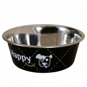 Zolux Gamelle chien Happy Noire 17cm Inox