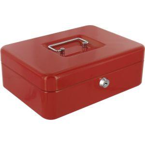Decayeux Coffret à monnaie métallique Rouge Dimensions 250 mm x 88 mm x 200 mm